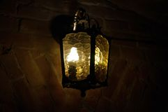 Ancient lantern in the dark Stock Photography