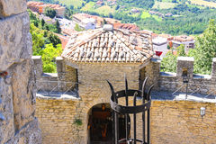 Ancient lantern in the fortress of San Marino Royalty Free Stock Photos