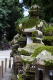 Ancient lantern in the shrines. Nara, Japan Royalty Free Stock Images