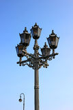 Ancient lantern in St. Petersburg. Against the sky Royalty Free Stock Photo
