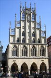 Ancient Late Gothic City Hall, Münster, Germany Royalty Free Stock Photography