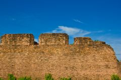 Ancient laterite wall Stock Photo