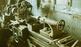 Ancient lathe Stock Image