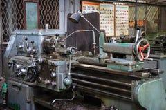 Ancient lathe machine Stock Images