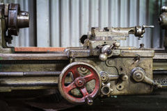 Ancient lathe machine Royalty Free Stock Photos