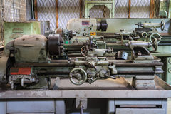 Ancient lathe machine Royalty Free Stock Photo