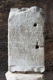 Ancient latin inscription Stock Images