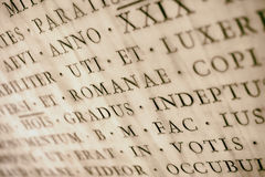 Ancient Latin Inscription Royalty Free Stock Photography