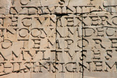 Ancient latin inscription Royalty Free Stock Photos