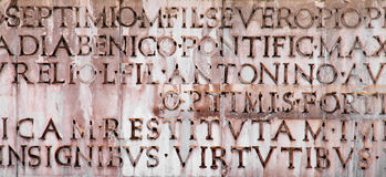Ancient latin inscription Royalty Free Stock Images