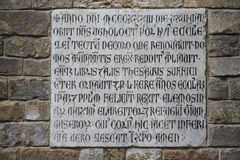 Ancient latin inscription Royalty Free Stock Photo