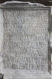 Ancient latin inscription Stock Images