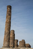 Ancient Leaning Columns in Pompeii Royalty Free Stock Image