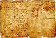 Ancient letter Stock Image