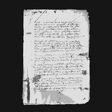 Ancient letter on old grunge paper for your design Royalty Free Stock Images