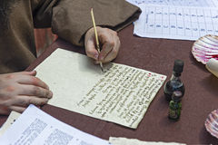 The ancient letter written by hand Stock Image