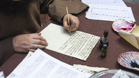 The ancient letter written by hand Stock Photo
