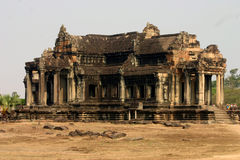 Ancient library, Angkor Wat stock photography