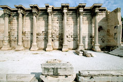 Ancient library of Hadrian, Athens, Greece Royalty Free Stock Photos