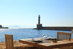 Ancient lighthouse, Chania Crete Stock Photography