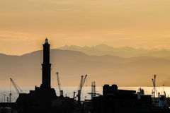 Ancient lighthouse of Genoa. Royalty Free Stock Images