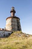 Ancient lighthouse on Keri island in Estonia. Ancient half broken lighthouse on an island of Keri in Estonia stock photos