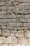 Ancient limestone wall Royalty Free Stock Photography