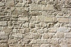 Ancient limestone walling texture Stock Photo