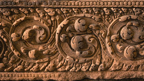 Ancient Lintel. Hitorical remains at Prasart Panohm Rung, Thailand Stock Photo