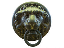 Ancient Lion Head Handle Stock Photo