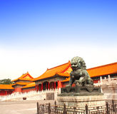 Ancient lion statue, Forbidden City, Beijing, China Stock Photography