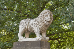Ancient lion statue in Lucca, Italy Royalty Free Stock Images