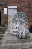 Ancient Lion Statue Stock Photo
