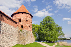 Ancient lithuanian castle Trakai tower Royalty Free Stock Images