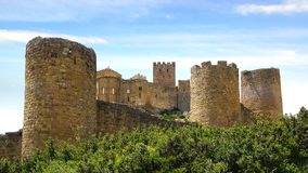 The Ancient Loarre Castle, Spain Stock Photo