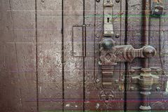 Old lock on the door royalty free stock image