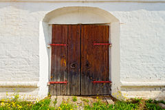 Ancient locked door Royalty Free Stock Photo