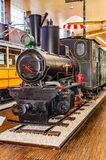 Ancient locomotive in the Tesla Museum in Zagreb. royalty free stock images