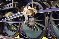 Ancient locomotive wheel Royalty Free Stock Photos
