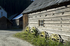 Ancient log-cabin Stock Photography