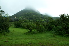 Ancient Lohgad fort in a fog Stock Photography