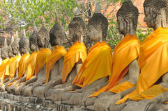 Ancient Lord Buddha Statue Stock Image