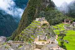 The ancient lost city of the Incas Machu Picchu Stock Photos