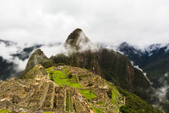 Ancient lost city of the Incas Machu Picchu Stock Images