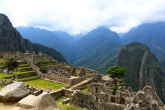 Ancient lost city Machu Picchu Royalty Free Stock Photos
