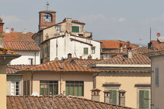 Ancient Lucca cityscape, Italy Stock Images