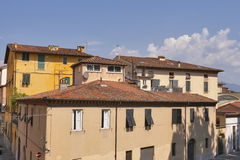 Ancient Lucca cityscape, Italy Royalty Free Stock Photos