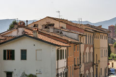 Ancient Lucca cityscape, Italy Stock Photo