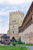 Ancient Lutsk castle. Lubart`s castle of the 14th century in Lutsk, Ukraine Royalty Free Stock Photo