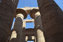 Ancient Luxor in Egypt. Ancient Luxor. The ancient civilizations. World attractions. The Ancient Egyptian Architecture Stock Photo
